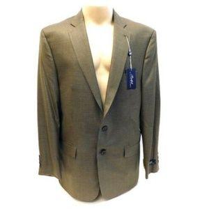 NWT RL SILK/ WOOL houndstooth blazer sport coat 46